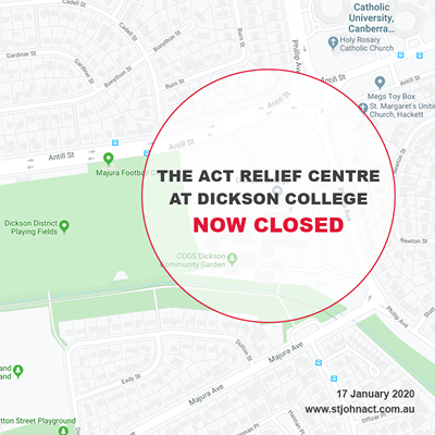 ACT Relief Centre now closed