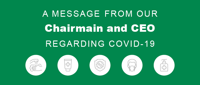 A message from our Chairman and CEO regarding COVID-19