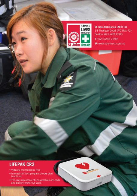 Lifepak CR2 Defib SJACT